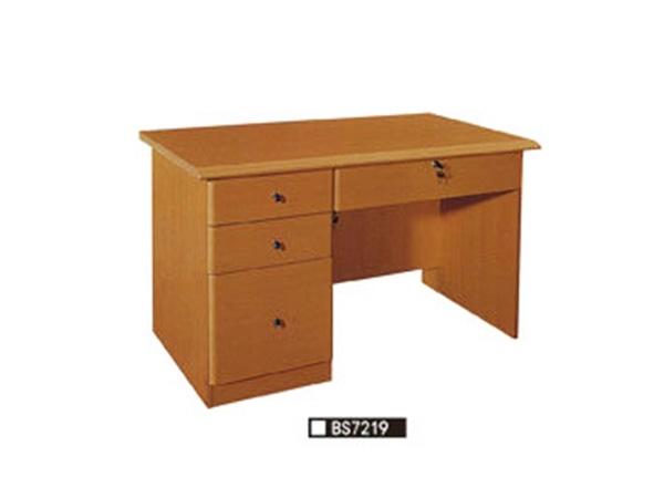 实木书柜电脑桌